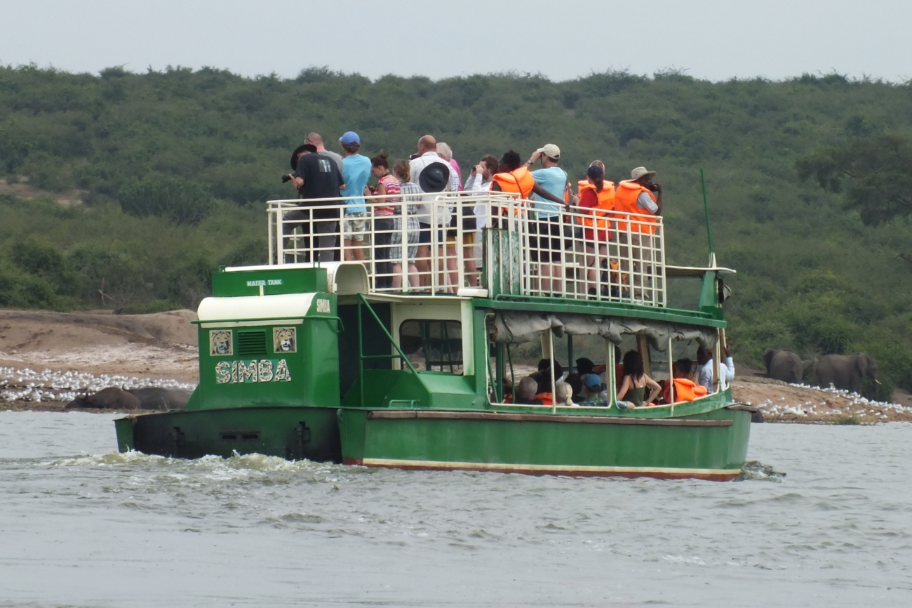 Boat cruise on Kazinga channel south western Uganda