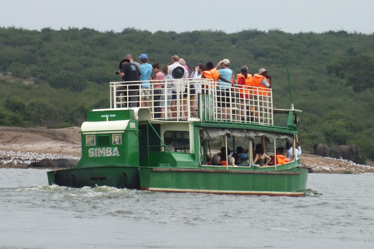 Boat cruise on Kazinga channel south western Uganda