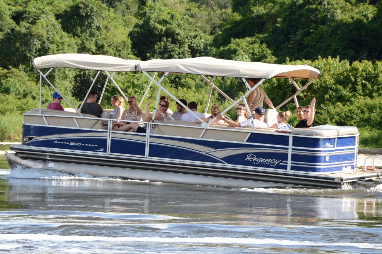 Boat cruise on river Nile