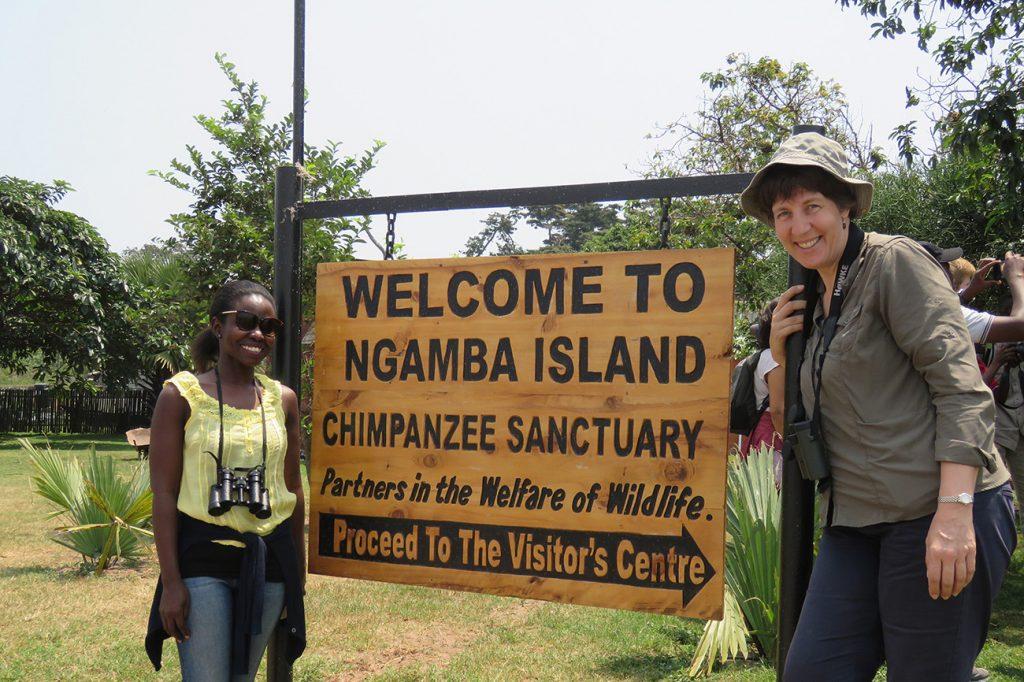 Lesley Ngamba island Chimpanzee sanctuary lake Victoria Uganda