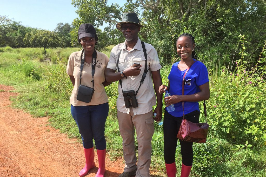 Lydia, Michael & Yvonne at Ziwa Rhino Sanctuary for Rhino tracking