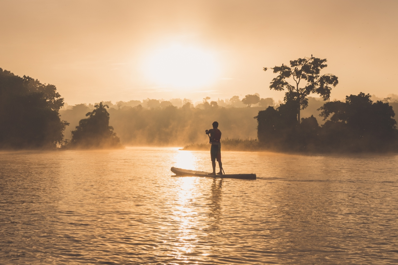Sunset Stand Up Paddle on river Nile