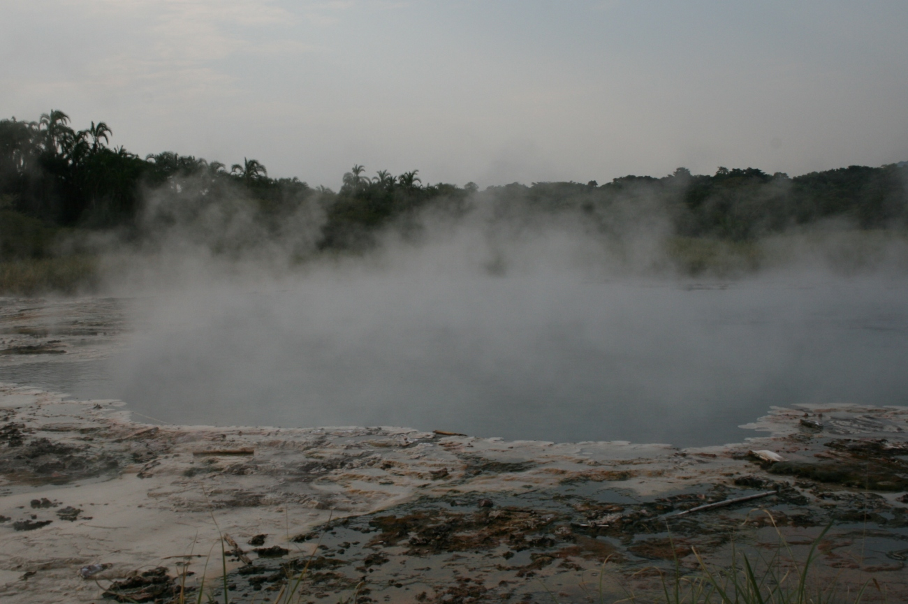 Sempaya hot spring Semuliki national park Uganda