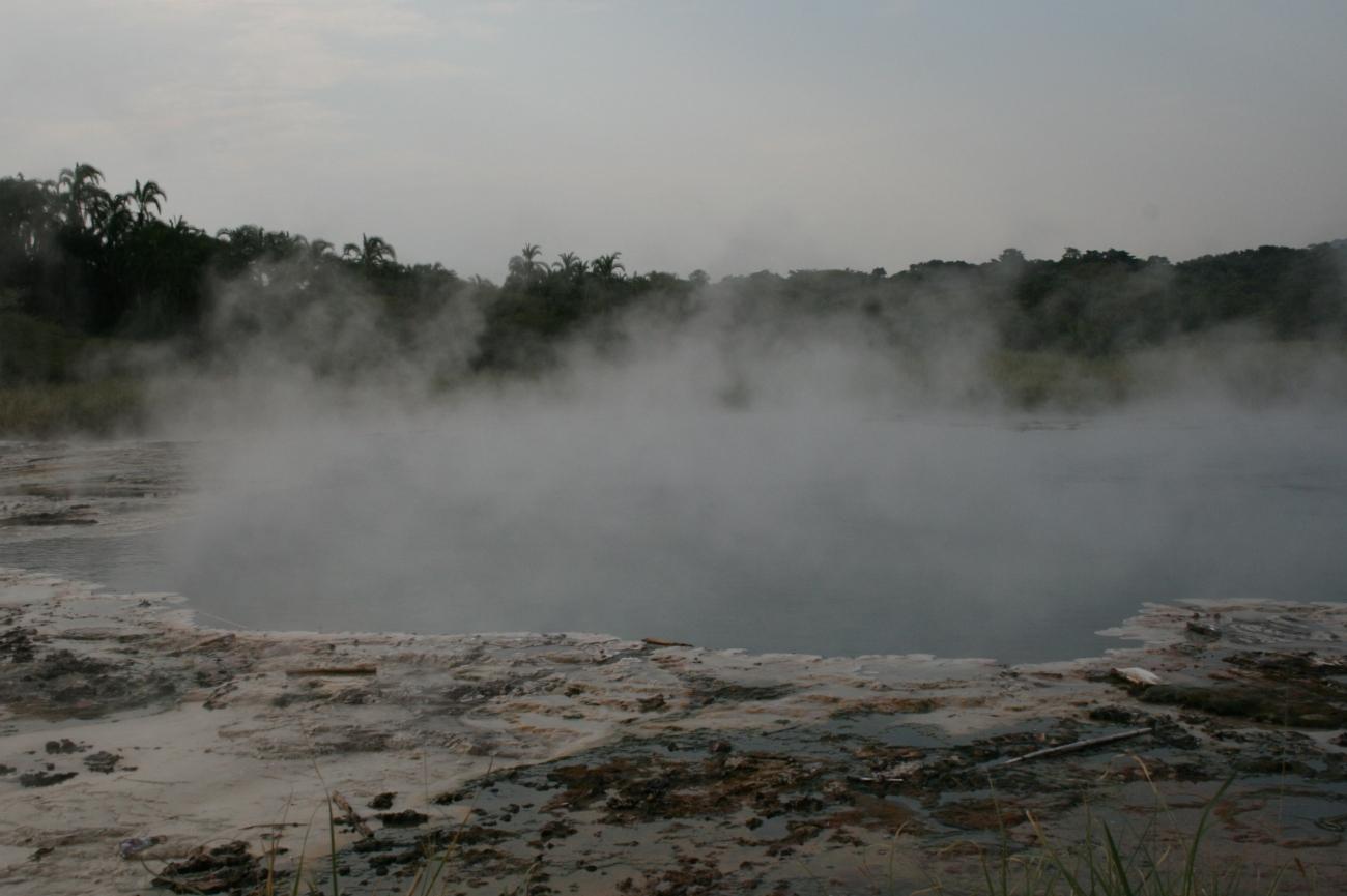 Sempaya hot spring Semuliki national park Uganda