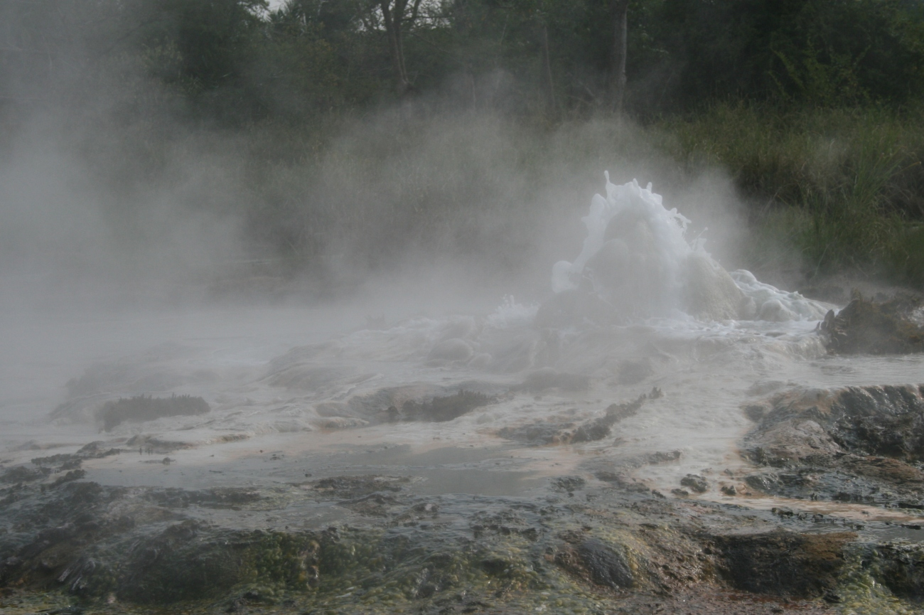 Sempaya hot springs Semuliki national park Uganda