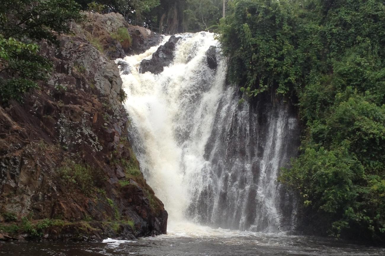 Sezibwa falls in Mukono Uganda
