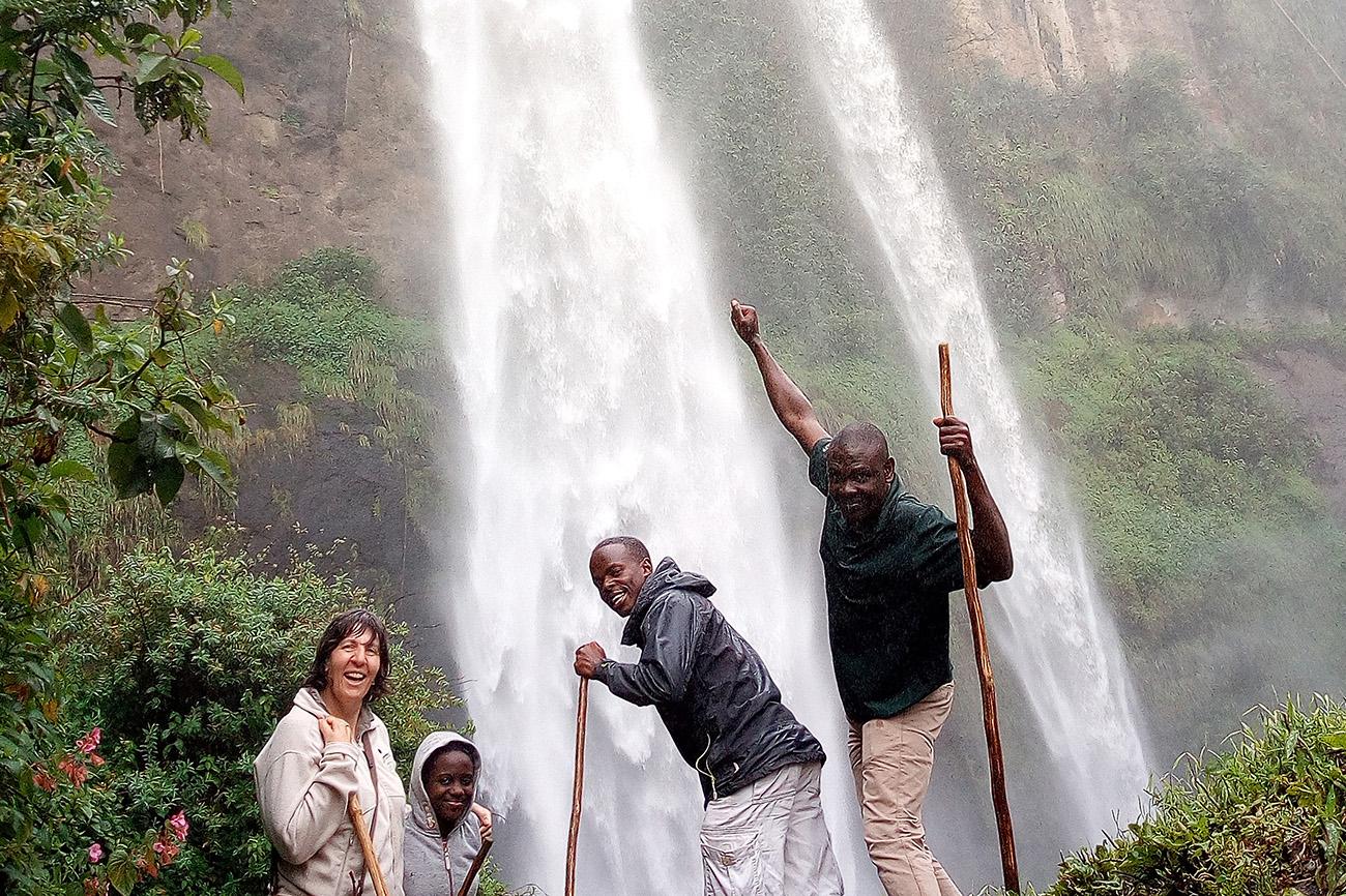 Venture Uganda staff at Sipi Falls Uganda