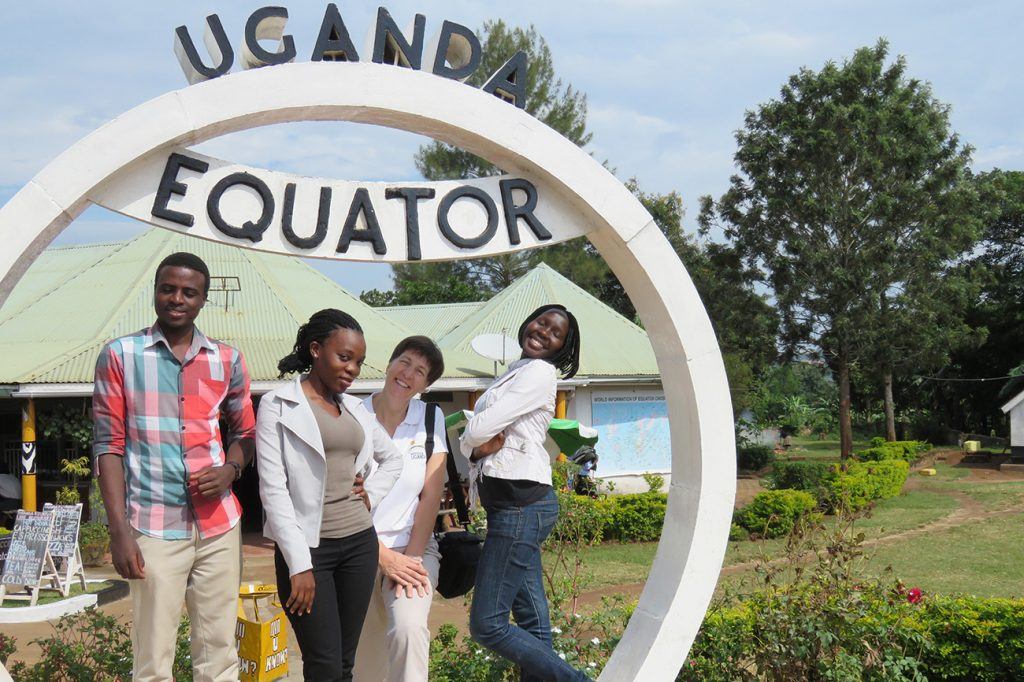 Venture Uganda staff at the equator