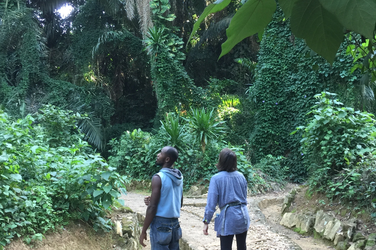Walking through botanical gardens Entebbe (1)