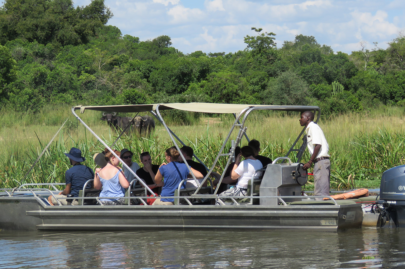 Boat at Murchison Falls National Park, Uganda