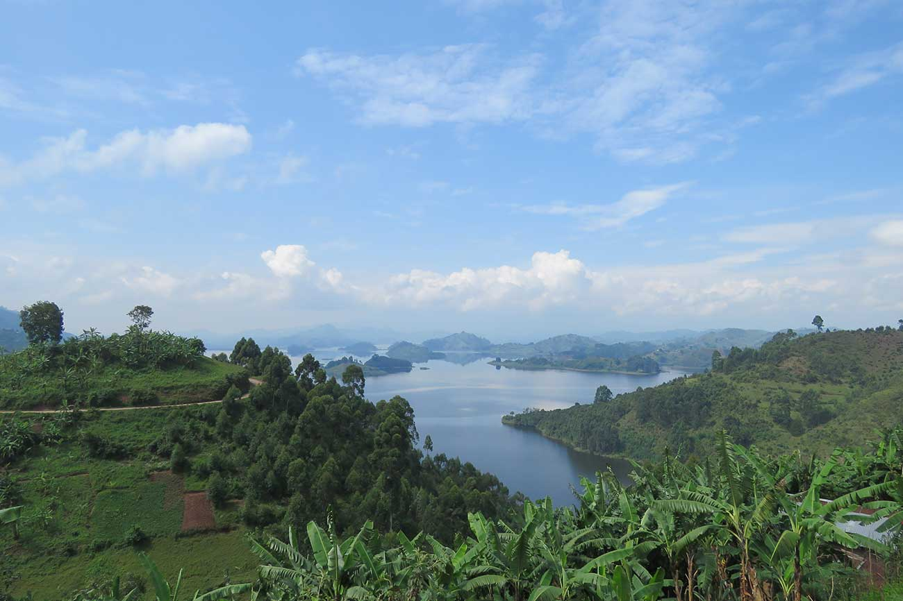 Lake Mutanda View from Chameleon Hill Lodge