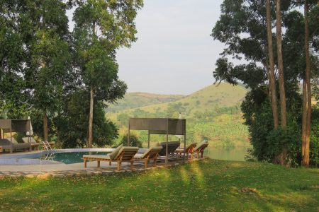 Crater safari Lodge swimming pool side