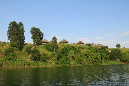 Crater safari Lodge from Nyinamulitwa crater lake