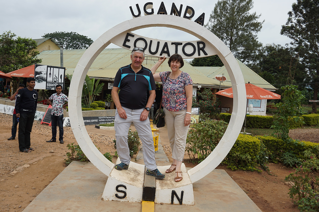 The equator in Uganda.