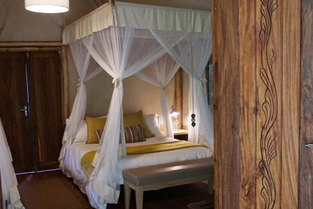 Gorilla Forest Camp single bed Bwindi National Park