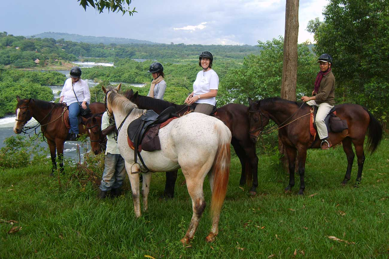 Horse riding near River Nile Jinja Uganda