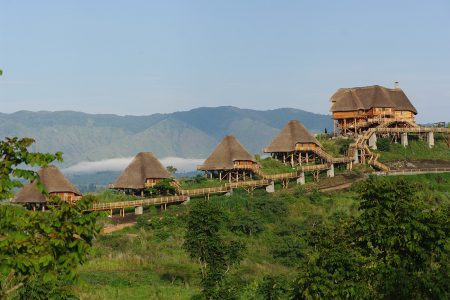 View of Kyaninga Lodge.