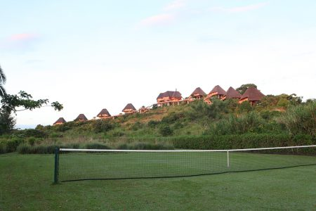 Tennis Court at Kyaninga Lodge.