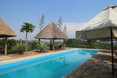 Papaya Lake Lodge swimming pool, Kibale