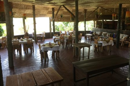 Park View Safari Lodge restaurant, Queen Elizabeth National Park, Uganda