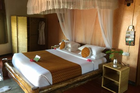 Park View Safari Lodge double room, Queen Elizabeth National Park, Uganda