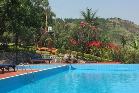 Park View Safari Lodge swimming pool, Queen Elizabeth National Park, Uganda