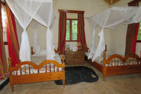 Twin bedroom at Primate Lodge Kibale Uganda