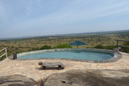 View from the pool at Rwakobo Rock, Lake Mburo national park