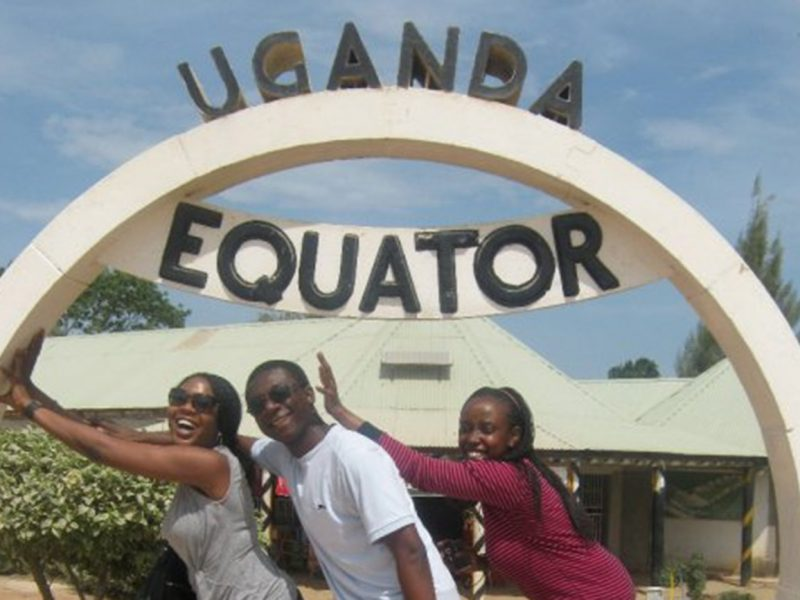 Students at the Equator in Uganda.