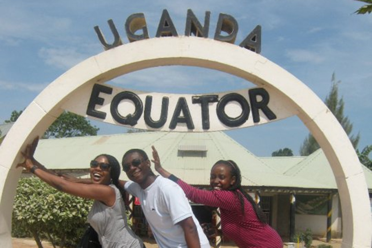 Students on the Equator in Uganda.