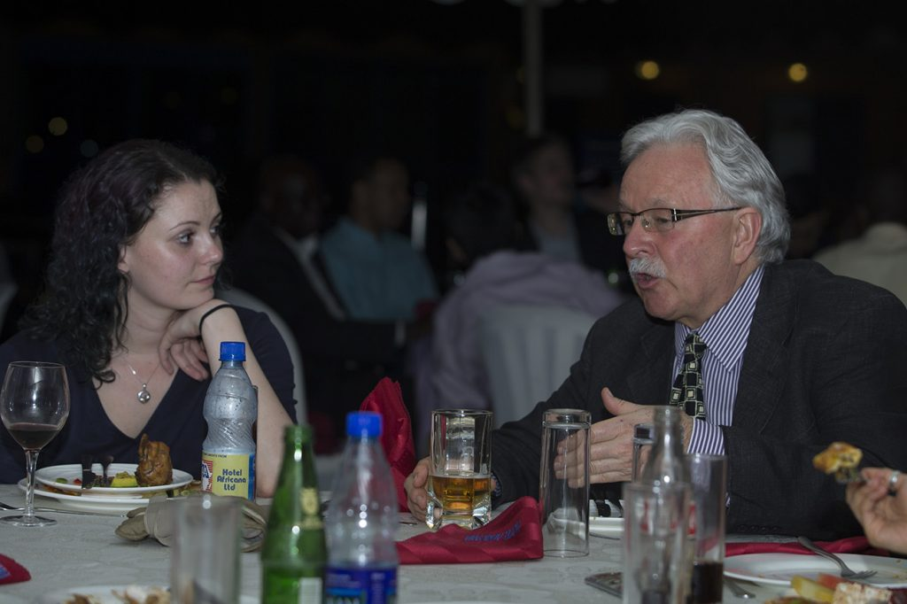 University of Manchester dinner after research in Kampala Uganda