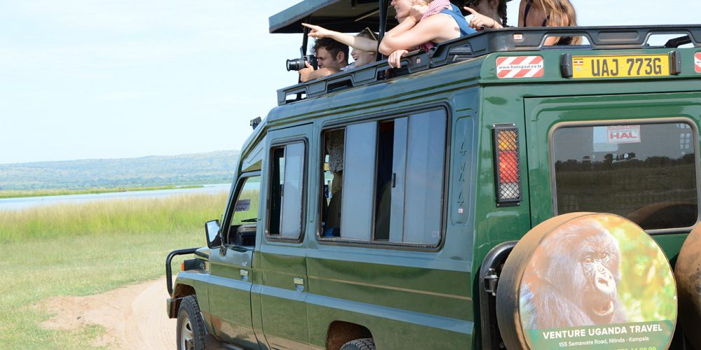 Venture Uganda on a game drive in Murchison falls national park