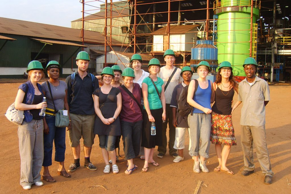 University field course visit to a sugar factory in Uganda