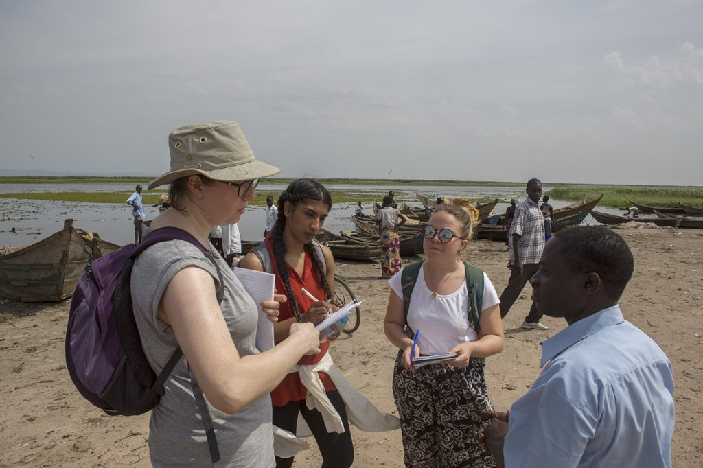 University field course at Wanseko landing site in Uganda