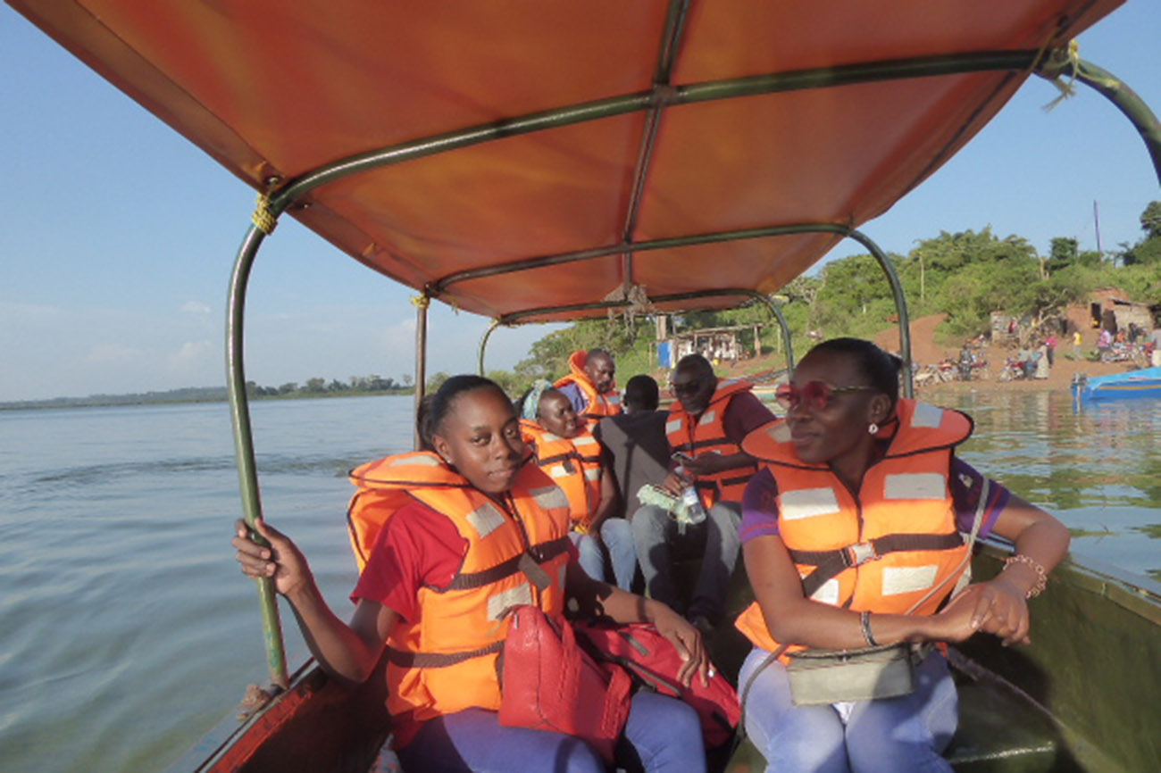 Lakeside boat on Lake Victoria, Uganda.