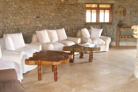 Apoka Safari Lodge lounge, Kidepo Valley National Park, Uganda