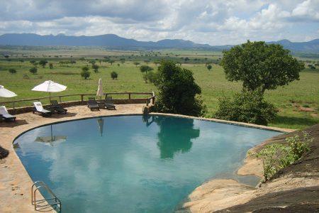 Apoka Safari Lodge pool, Kidepo Valley National Park, Uganda