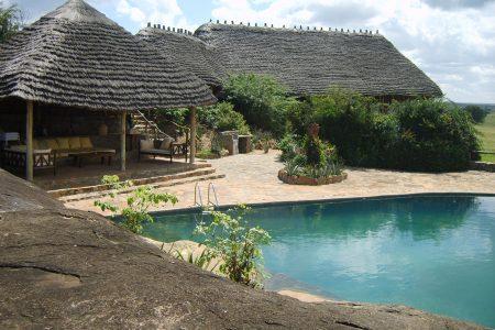 Apoka Safari Lodge pool side Kidepo valley national park Uganda