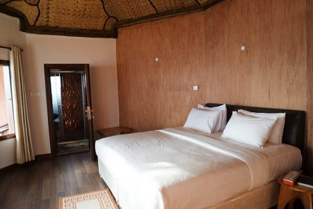 Arcardia Cottages double bed, Lake-Bunyonyi, Uganda