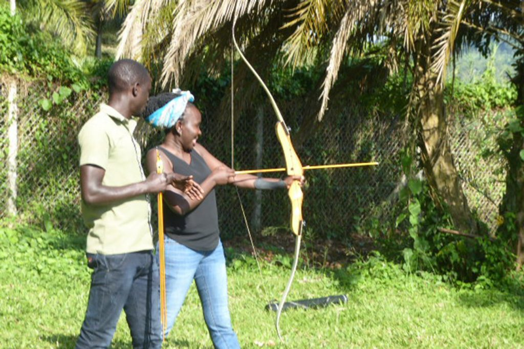 Archery tutorial lakeside adventure park Mukono Uganda