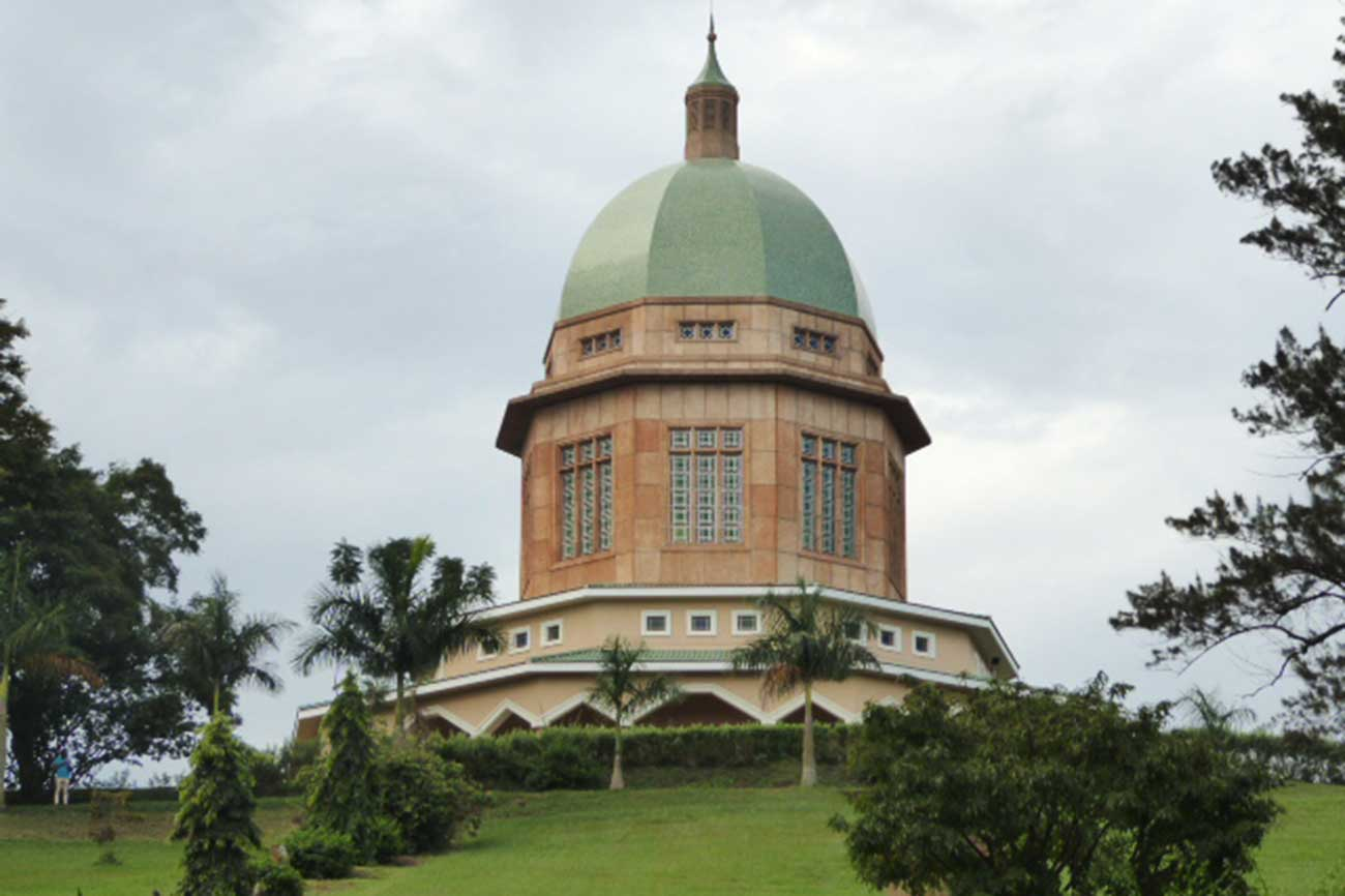 Bahai temple on Kikaya hill in Uganda