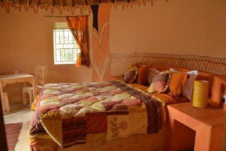 Bird Nest Resort double bed, Lake Bunyonyi, Uganda.
