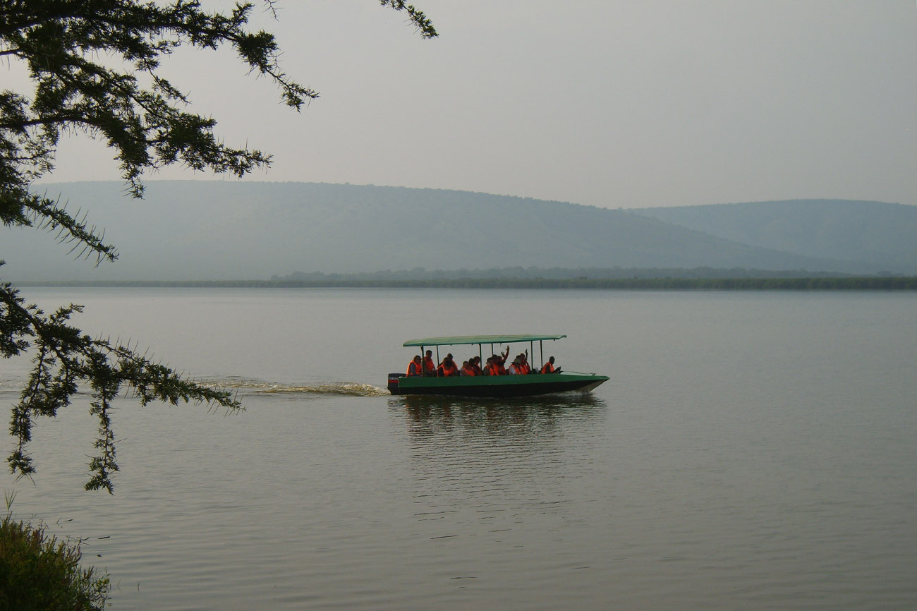 Boat trip on Lake Mburo in Uganda.