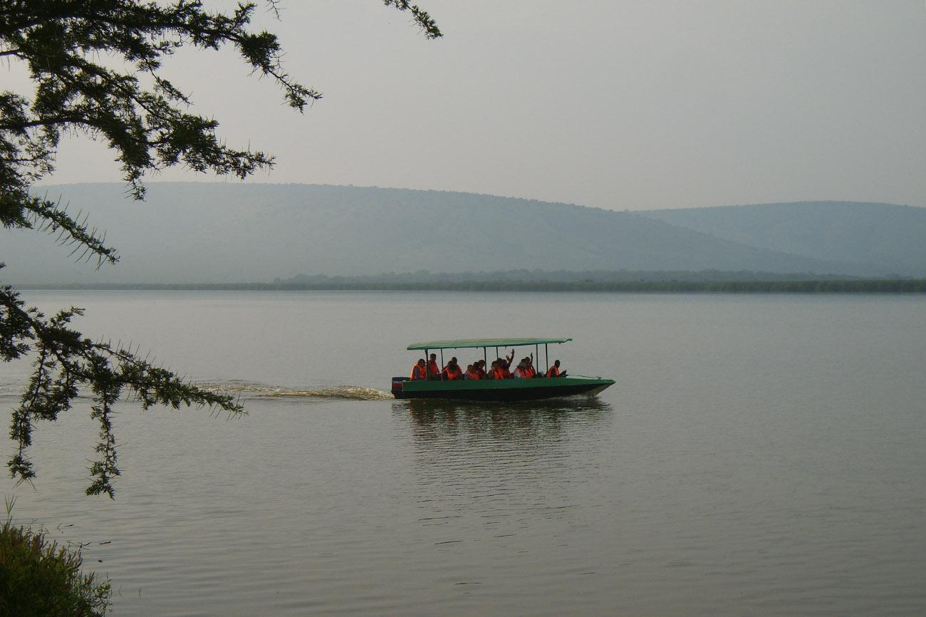 Boat trip on Lake Mburo in Uganda.