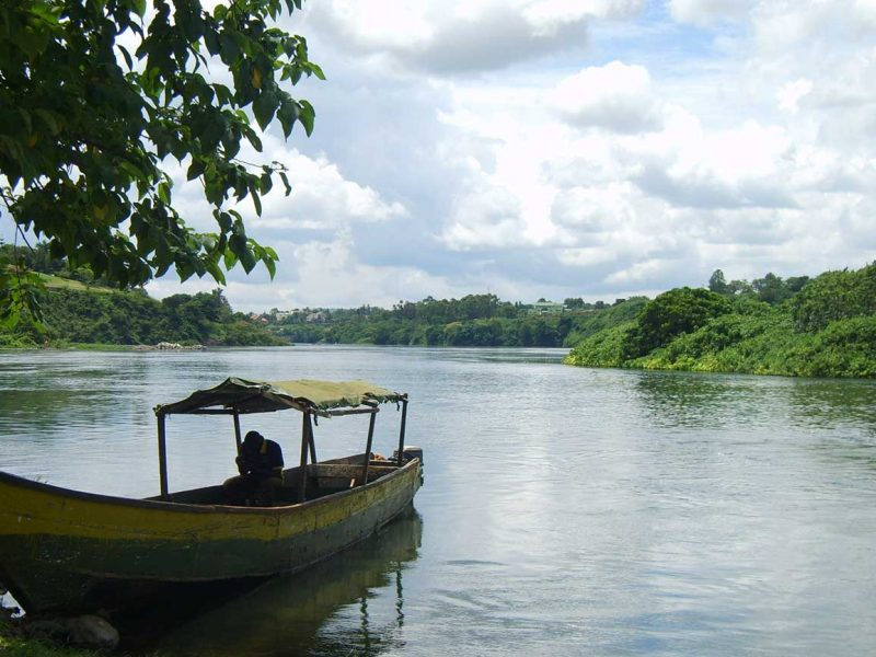 Boat trip to the Source of the Nile in Uganda.