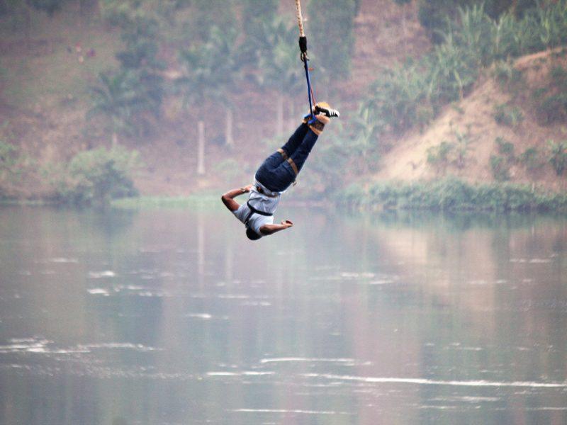 Bungee jump on the Nile, Uganda.