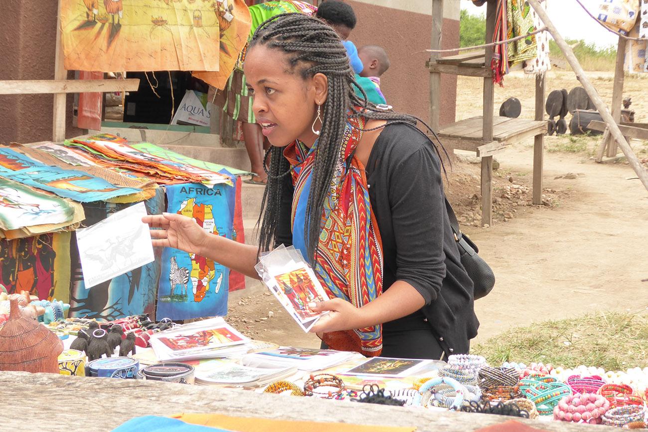 Craft shopping Uganda.