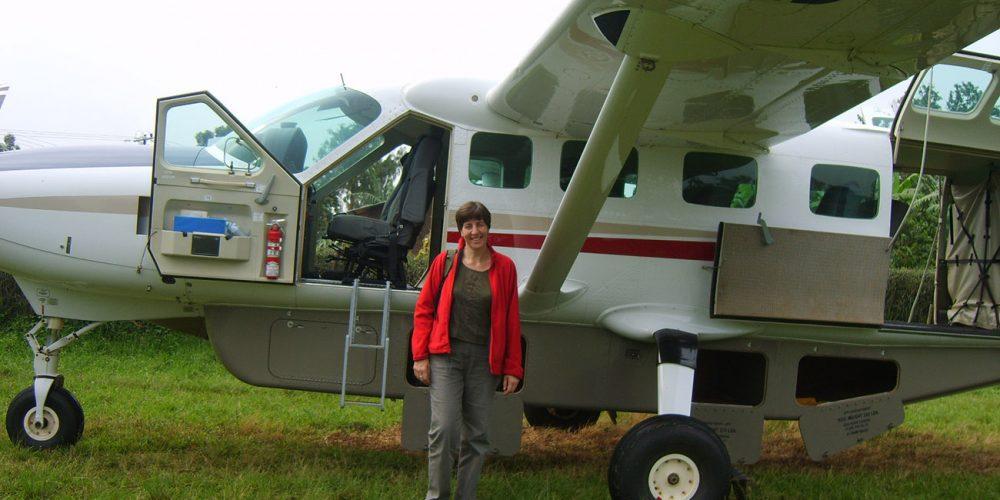 Domestic flight plane in Uganda.