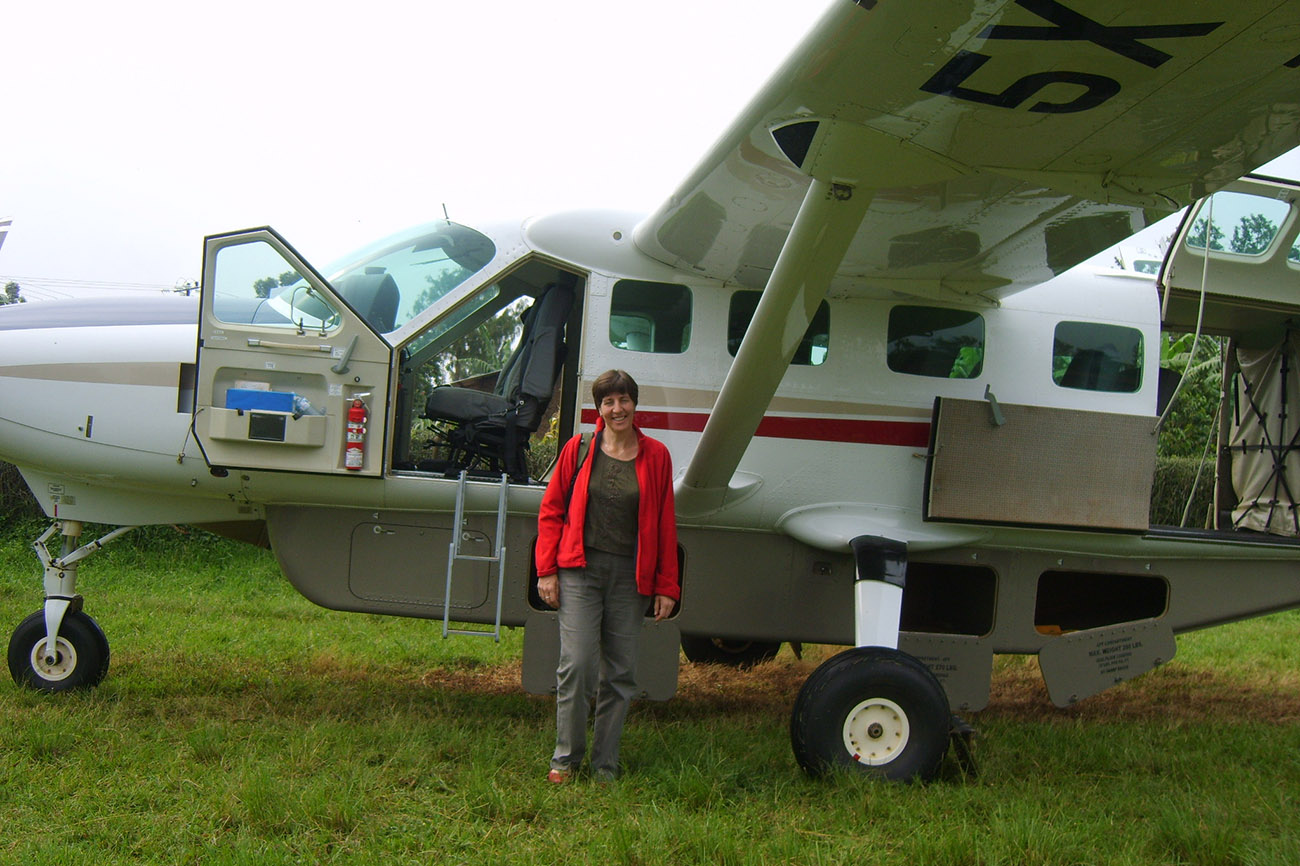 Domestic flight plane in Uganda.