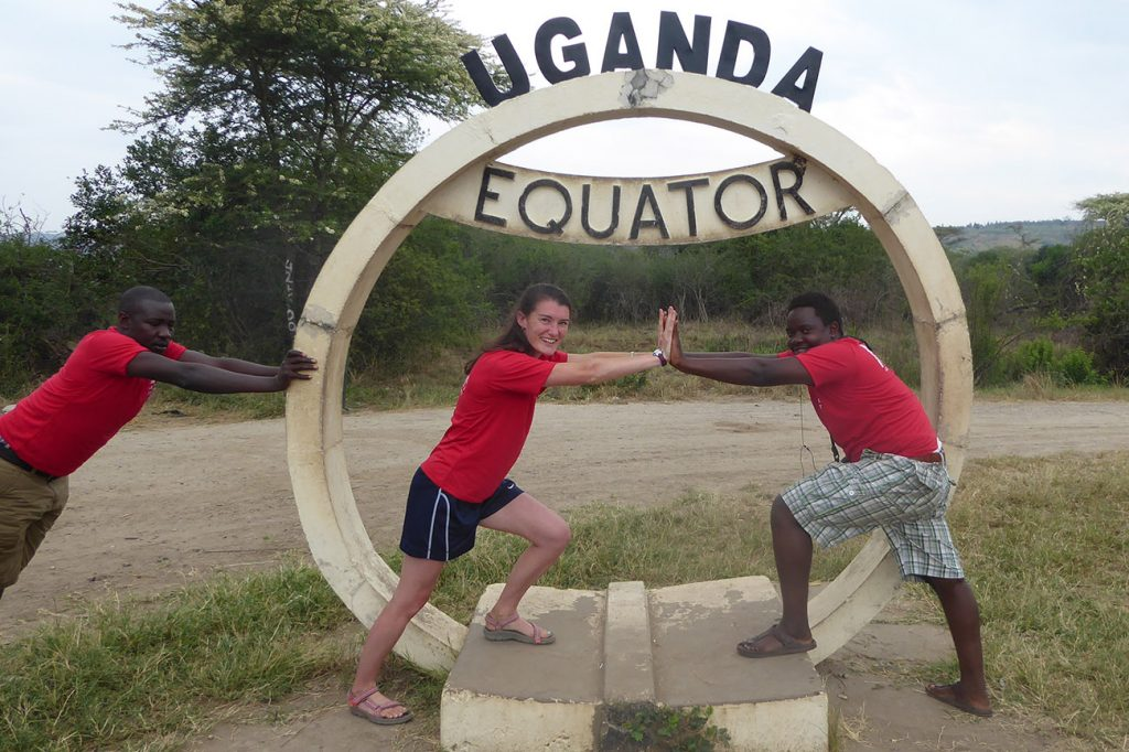 Venture Uganda staff at the equator in Uganda